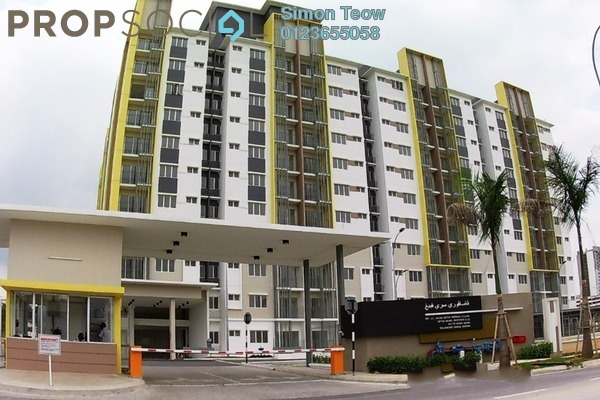 For Sale Apartment at Seri Pinang Apartment, Setia Alam Freehold Unfurnished 3R/2B 288k