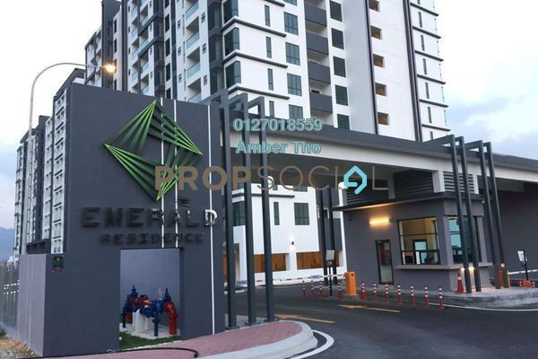 For Rent Condominium at Emerald Residence, Bandar Mahkota Cheras Freehold Unfurnished 3R/2B 1.26k