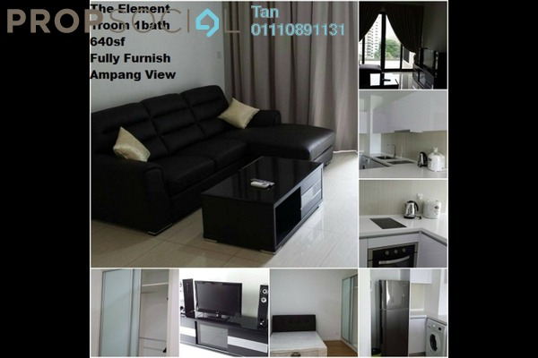 For Rent Condominium at The Elements, Ampang Hilir Freehold Fully Furnished 0R/1B 1.5k