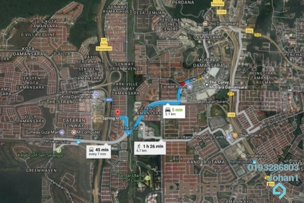 For Sale Condominium at Palm Spring, Kota Damansara Freehold Semi Furnished 3R/2B 420k