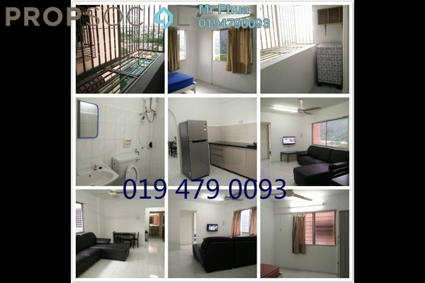 For Rent Apartment at Taman Pekaka, Sungai Dua Freehold Fully Furnished 3R/2B 1.3k