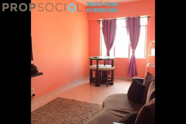 For Sale Apartment at Seri Ixora Apartment, Shah Alam Freehold Semi Furnished 3R/2B 300k