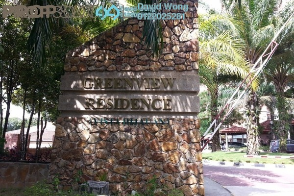 For Rent Condominium at Greenview Residence, Bandar Sungai Long Freehold Semi Furnished 3R/2B 1.2k