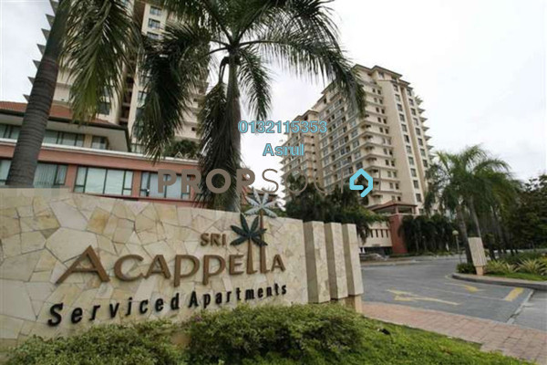 For Rent Serviced Residence at Sri Acappella, Shah Alam Freehold Fully Furnished 3R/3B 3k
