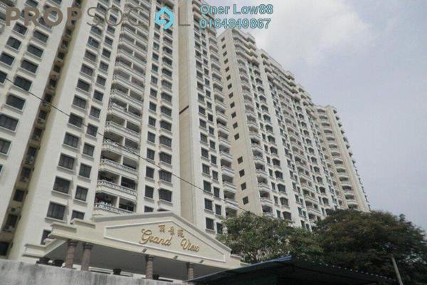For Rent Condominium at Grand View, Tanjung Tokong Freehold Fully Furnished 3R/2B 2.5k