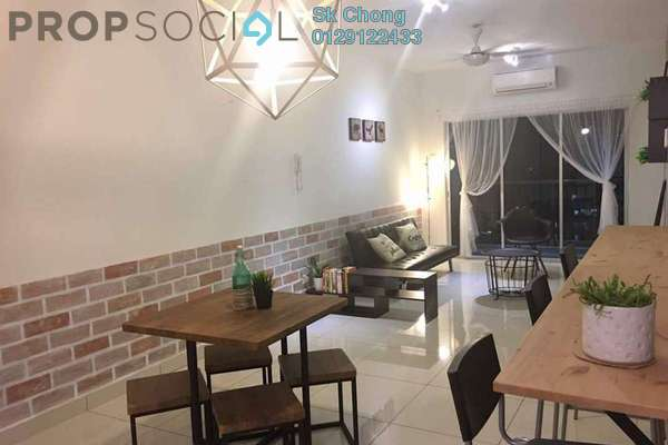 For Rent Condominium at Spring Avenue, Kuchai Lama Freehold Fully Furnished 3R/2B 2.2k