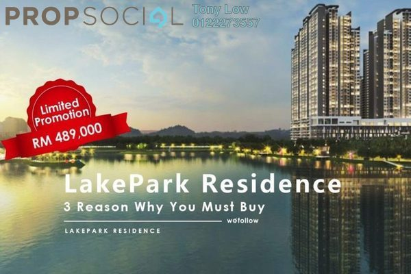 For Sale Serviced Residence at LakePark Residence @ KL North, Selayang Freehold Semi Furnished 3R/2B 470k