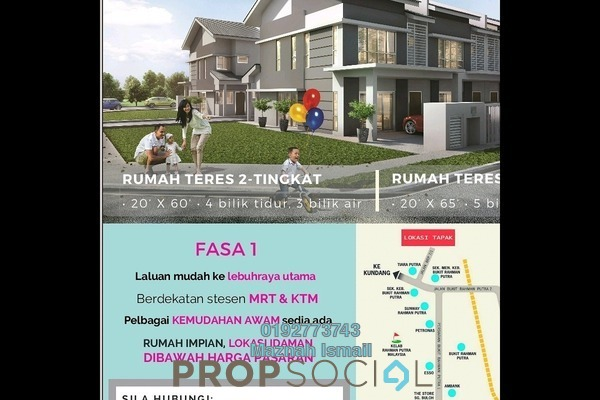For Sale Terrace at BRP 7, Bukit Rahman Putra Freehold Unfurnished 4R/3B 460k