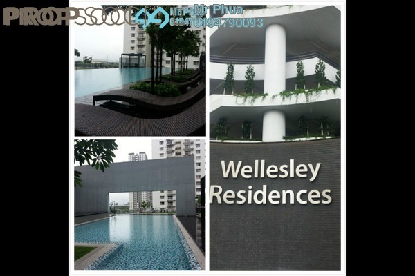 For Rent Condominium at Wellesley Residences, Butterworth Freehold Fully Furnished 2R/2B 1.7k