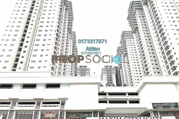For Sale Condominium at Maxim Citilights, Sentul Freehold Unfurnished 2R/2B 480k