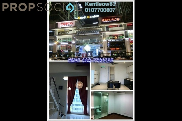 For Rent SoHo/Studio at The Scott Garden, Old Klang Road Freehold Semi Furnished 1R/2B 1.5k