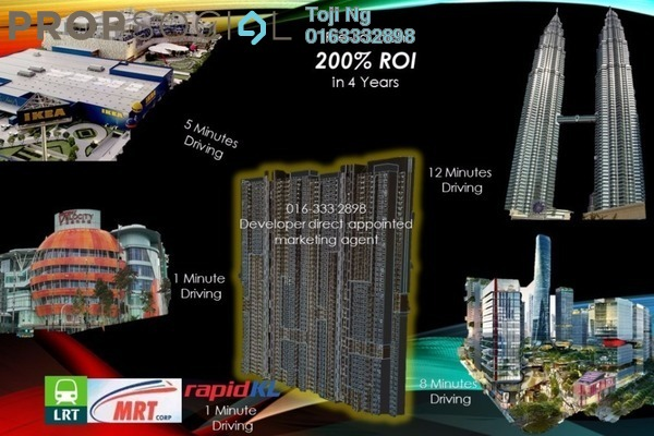 For Sale Serviced Residence at M Vertica, Cheras Leasehold Semi Furnished 3R/2B 455k
