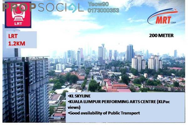 For Sale Condominium at Rica Residence, Sentul Freehold Unfurnished 2R/2B 622k