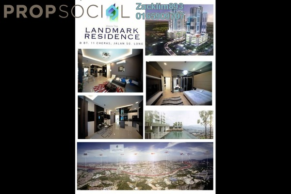 For Sale Condominium at Landmark II, Bandar Sungai Long Freehold Semi Furnished 3R/2B 550k