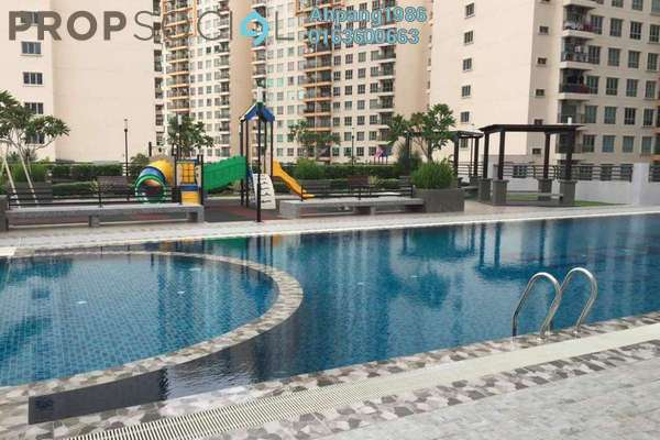 For Sale Condominium at Spring Avenue, Kuchai Lama Freehold Semi Furnished 3R/2B 650k