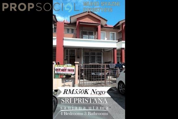 For Sale Terrace at Seri Pristana, Sungai Buloh Freehold Semi Furnished 4R/3B 550k