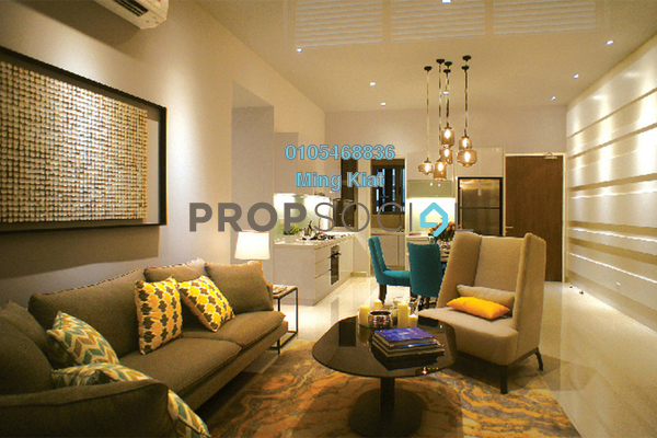 For Sale Condominium at Tria Residences @ 9 Seputeh, Old Klang Road Freehold Semi Furnished 2R/2B 595k