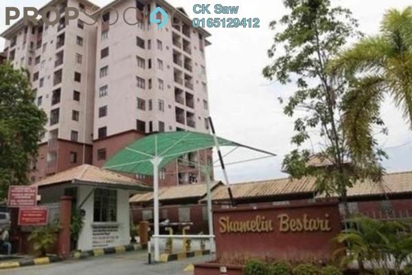 For Rent Apartment at Shamelin Bestari, Cheras Freehold Unfurnished 3R/3B 1.2k