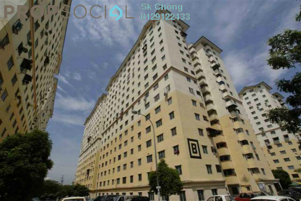 For Sale Apartment at Sri Rakyat Apartment, Bukit Jalil Freehold Unfurnished 3R/2B 220k