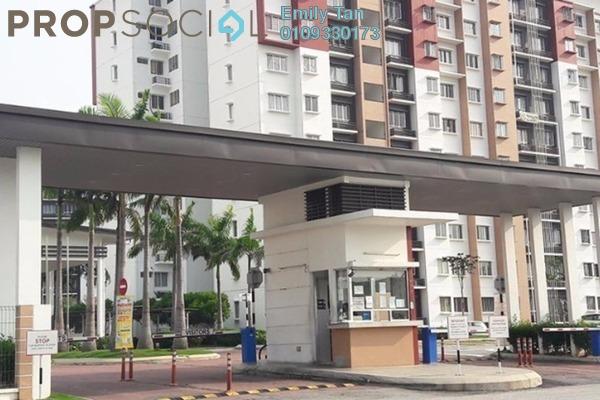 For Sale Apartment at Seri Jati Apartment, Setia Alam Freehold Semi Furnished 3R/2B 288k