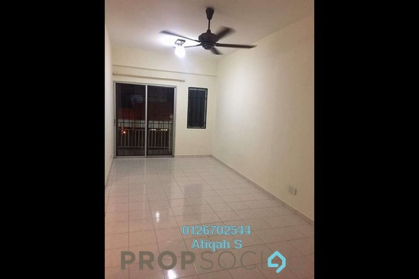 For Rent Apartment at Danaumas Apartment, Shah Alam Freehold Unfurnished 3R/2B 1.3k