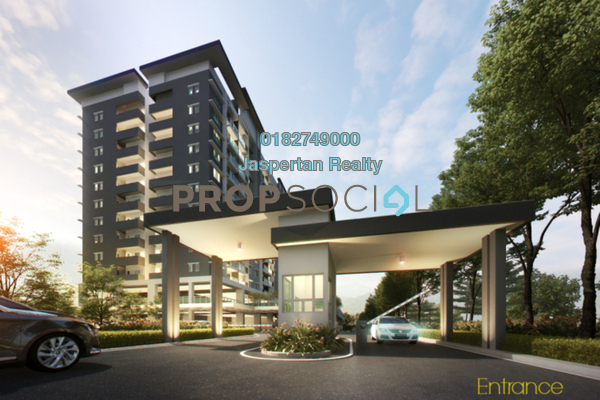 For Sale Condominium at Camellia Residences, Bandar Sungai Long Freehold Unfurnished 3R/2B 445k