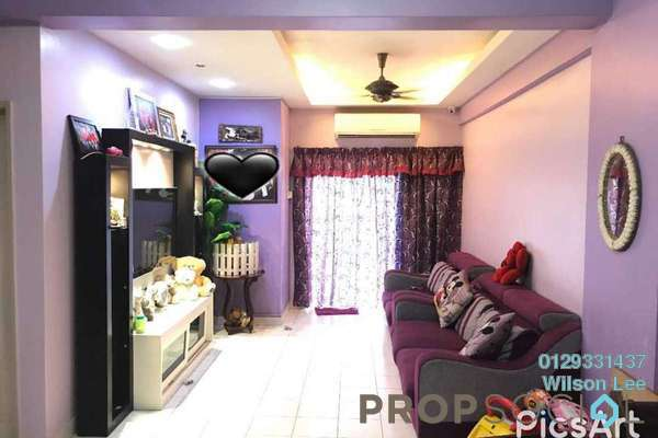 For Sale Condominium at Fortune Avenue, Kepong Freehold Semi Furnished 3R/2B 700k