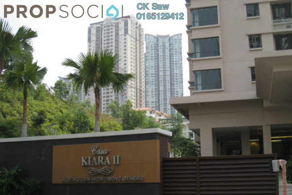 For Rent Condominium at Casa Kiara II, Mont Kiara Freehold Fully Furnished 4R/3B 3.4k