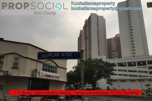 For Rent Factory at Taman Tan Yew Lai, Old Klang Road Freehold Unfurnished 0R/2B 4.5k