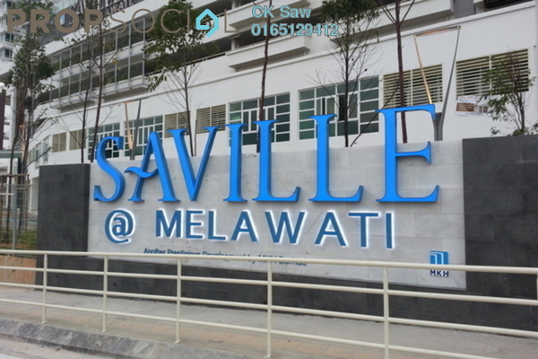 For Rent Condominium at Saville, Melawati Freehold Semi Furnished 3R/2B 1.4k