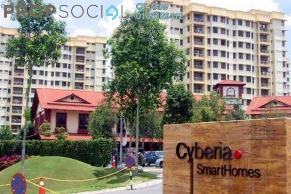 For Rent Condominium at Cyberia SmartHomes, Cyberjaya Freehold Semi Furnished 3R/2B 1.2k