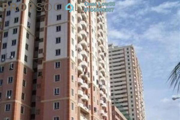 For Sale Apartment at Mutiara Heights, Jelutong Freehold Semi Furnished 3R/2B 330k
