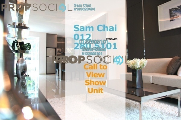 For Sale Serviced Residence at United Point Residence, Segambut Freehold Unfurnished 2R/2B 500k
