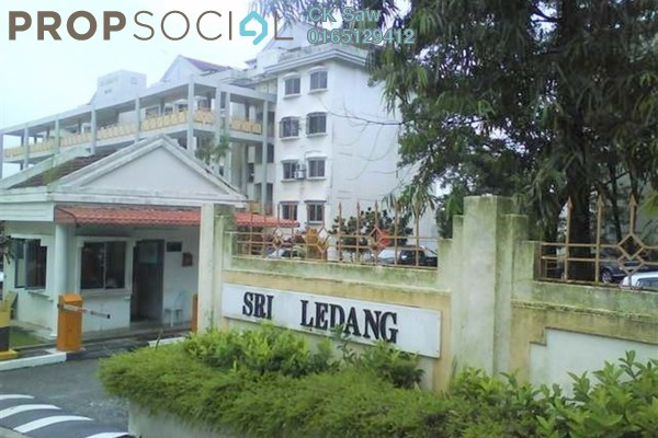 For Rent Condominium at Sri Ledang, Wangsa Maju Freehold Semi Furnished 4R/2B 1.4k