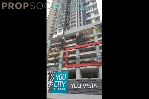 For Rent Condominium at You Vista @ You City, Batu 9 Cheras Freehold Semi Furnished 3R/2B 1.5k