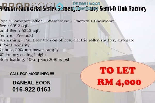 For Rent Factory at 228 Smart Industrial Series, Semenyih Freehold Unfurnished 0R/0B 4k