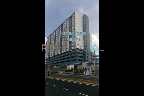 For Rent Apartment at Saujana Permai Apartment, Kajang Freehold Semi Furnished 3R/2B 1k