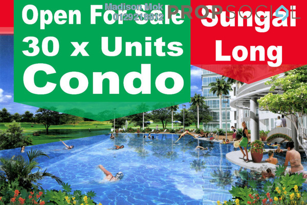 For Sale Condominium at Iris Residence, Bandar Sungai Long Freehold Unfurnished 3R/2B 470k