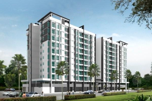 For Rent Condominium at BM Residence, Bukit Mertajam Freehold Semi Furnished 4R/2B 1.1k