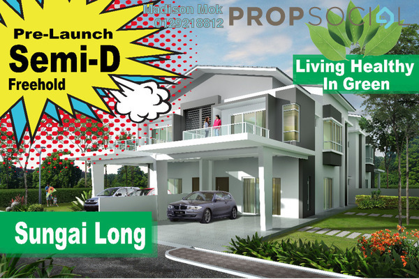 For Sale Semi-Detached at Indah Height, Bandar Sungai Long Freehold Unfurnished 6R/6B 1.86m