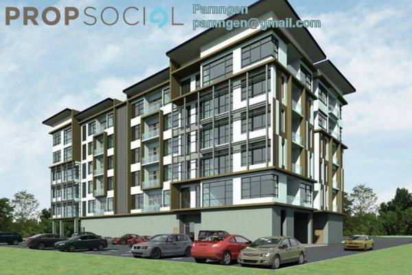 For Sale Apartment at Forest Hill, Kuching Leasehold Semi Furnished 2R/1B 378k