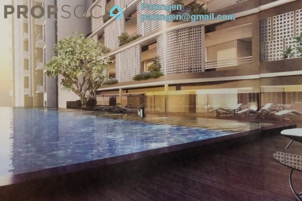 For Sale Apartment at Everbright Park, Kuching Leasehold Semi Furnished 1R/1B 302k