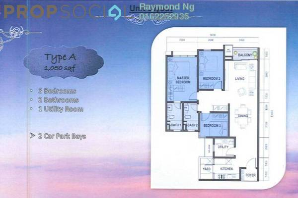 For Sale Condominium at Royalle Condominium, Segambut Leasehold Semi Furnished 3R/2B 473k