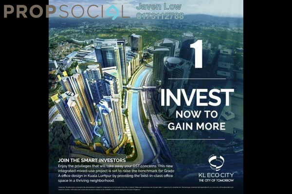 For Sale Condominium at KL Eco City, Mid Valley City Freehold Semi Furnished 2R/1B 1m