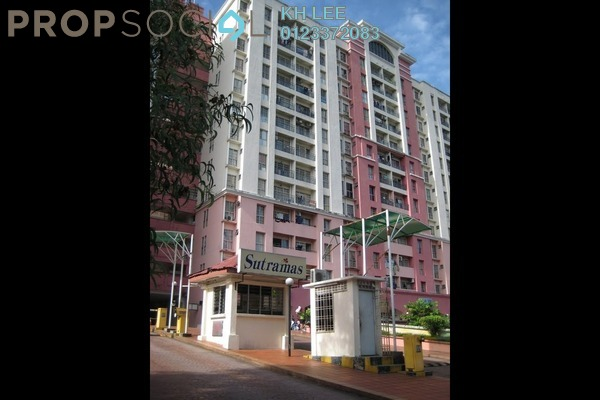 For Rent Apartment at Sutramas, Bandar Puchong Jaya Freehold Semi Furnished 3R/2B 1.1k
