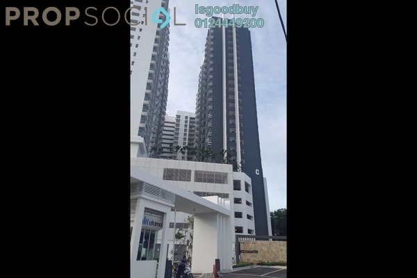 For Rent Apartment at The Aliff Residences, Johor Bahru Freehold Fully Furnished 3R/2B 1.5k
