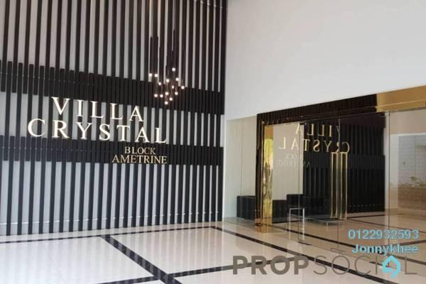 For Sale Condominium at Villa Crystal, Segambut Freehold Semi Furnished 3R/3B 750k