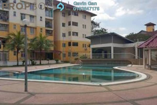 For Rent Apartment at Bayu Villa, Klang Freehold Semi Furnished 3R/2B 1.25k