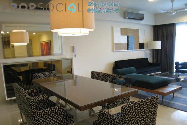For Rent Condominium at Tiffani Kiara, Mont Kiara Freehold Fully Furnished 1R/2B 3.3k