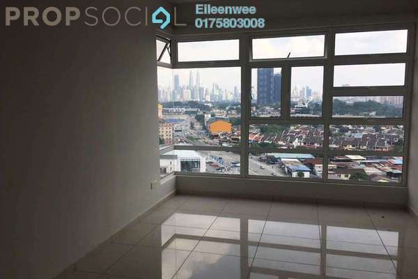 For Rent Condominium at MH Platinum Residency, Setapak Freehold Semi Furnished 3R/2B 1.6k